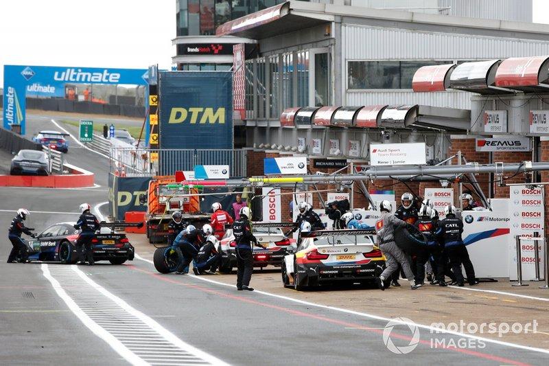 Pitstop, Sheldon van der Linde, BMW Team RBM, BMW M4 DTM