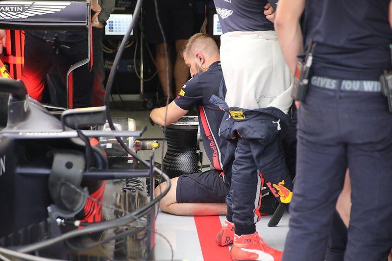 Detalle de la llanta trasera del Red Bull Racing RB15