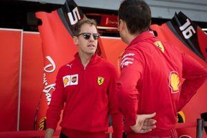 Sebastian Vettel, Ferrari in the pit lane
