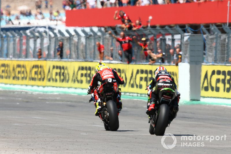 1. Alvaro Bautista, Aruba.it Racing-Ducati Team, 2. Jonathan Rea, Kawasaki Racing Team