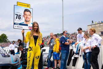 Grid girl, Jake Dennis, R-Motorsport