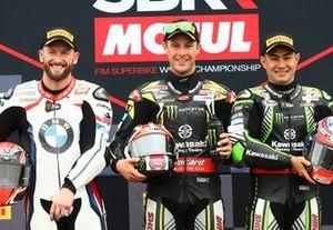 Tom Sykes, BMW Motorrad WorldSBK Team, Jonathan Rea, Kawasaki Racing Team, Leon Haslam, Kawasaki Racing Team