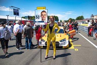 Grid girl, Nico Müller, Audi Sport Team Abt Sportsline, Audi RS 5 DTM