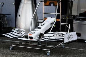 Front wing of Mercedes AMG F1 W10 with new livery