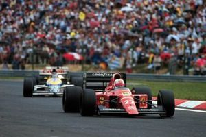 Nigel Mansell, Ferrari y Thierry Boutsen, Williams