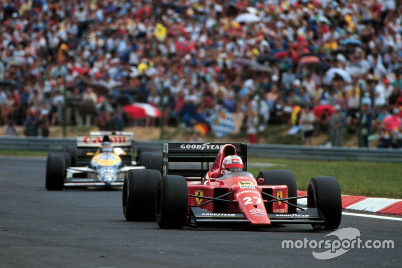 Nigel Mansell, Ferrari 640, Thierry Boutsen, Williams FW12C