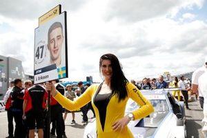 Grid girl of Joel Eriksson, BMW Team RBM