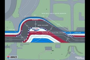 Charlotte Motor Speedway Back Straight Chicane Diagram