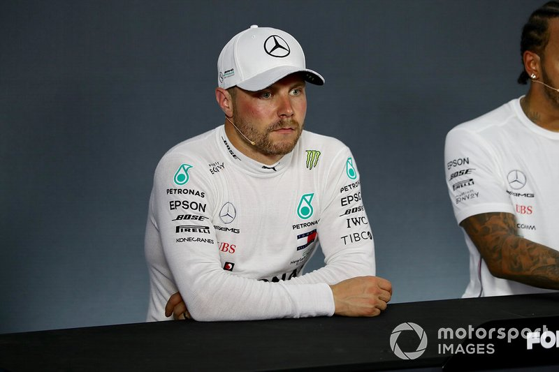 Valtteri Bottas, Mercedes AMG F1, in the post Qualifying Press Conference