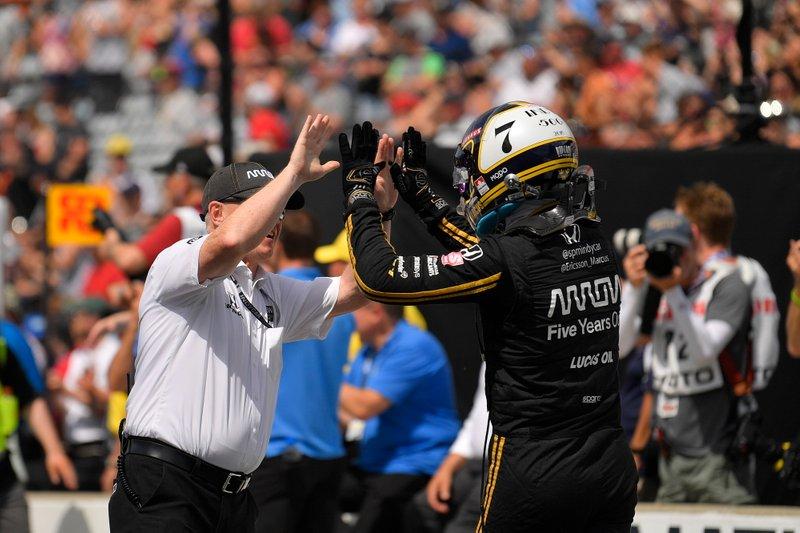 Marcus Ericsson, Arrow Schmidt Peterson Motorsports Honda, durante la competencia de Pit Stop