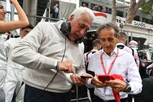 Lawrence Stroll and Alain Prost, Renault F1 Team
