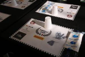 Tovaglietta con il logo della Pirelli Cup