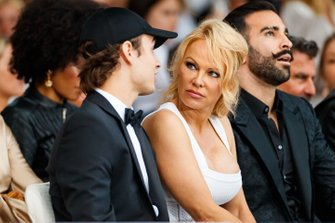 Pamela Anderson at the Amber Lounge fashion show