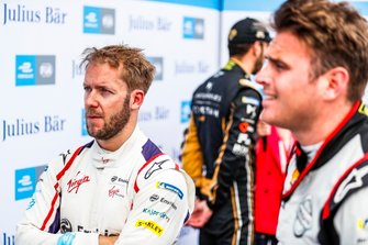 Sam Bird, Envision Virgin Racing, with Oliver Rowland, Nissan e.Dams