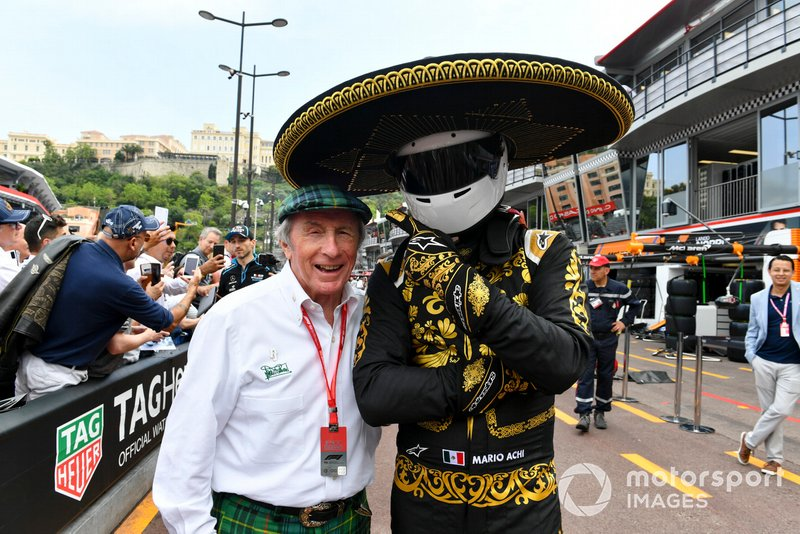 Mario Achi, Mexican GP Promoter with Sir Jackie Stewart, 3-time F1 Champion