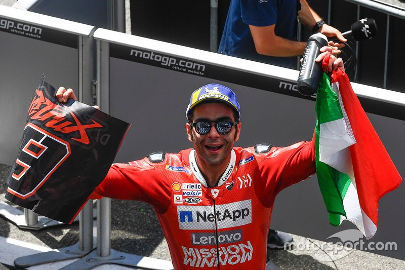 Ganador de la carrera Danilo Petrucci, Ducati Team