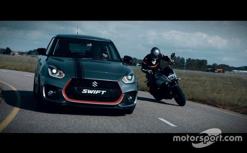 Suzuki Swift Sport Katana vs. Suzuki GSX-1000S Katana