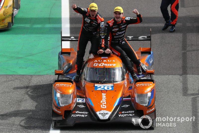 Race winner #26 G-Drive Racing Aurus 01 Gibson: Roman Rusinov, Job Van Uitert, Norman Nato