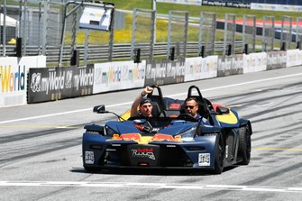 Max Verstappen, Red Bull Racing, in a KTM X-Bow