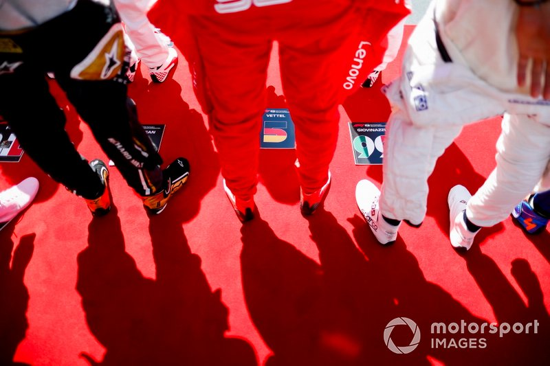 Sebastian Vettel, Ferrari, on the grid