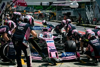 Lance Stroll, Racing Point pit stop