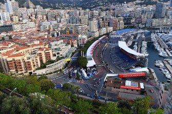 Una vista del circuito de Mónaco