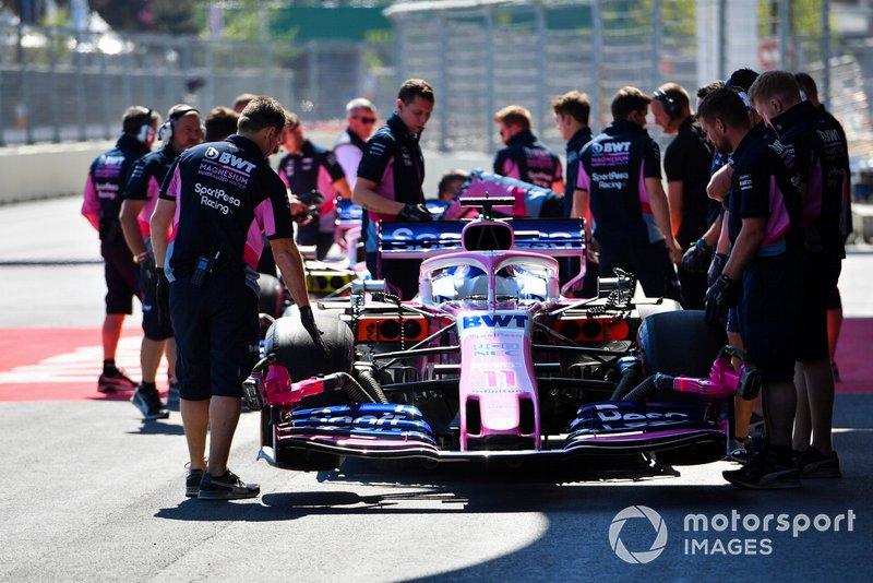 Mecánica de Racing Point con el coche de Sergio Pérez, Racing Point RP19