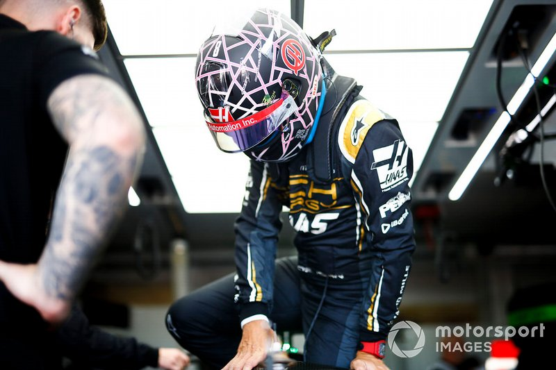 Helm van Romain Grosjean, Haas F1, Frankrijk