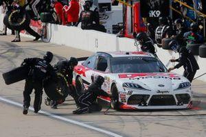 Harrison Burton, Joe Gibbs Racing, Toyota Supra Dex Imaging pit stop