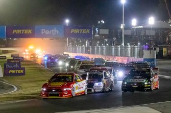 Fabian Coulthard, DJR Team Penske Ford leads at the start