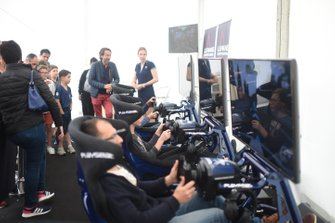 Le Mans Esports Series fan tent at the 24 Hours of Le Mans scrutineering