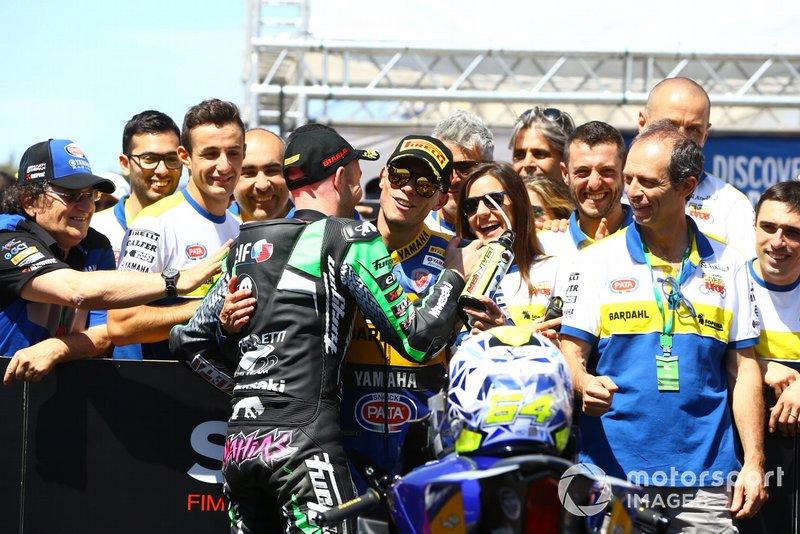Lucas Mahias, Kawasaki Puccetti Racing, Federico Caricasulo, BARDAHL Evan Bros. WorldSSP Team