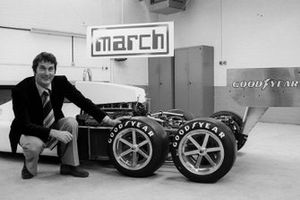 Robin Herd, March Designer with his new 6 wheeled creation, the March 2-4-0