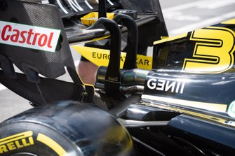Engine cover and exhaust detail of the Daniel Ricciardo Renault R.S.19
