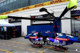 The Toro Rosso team's pit lane