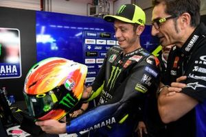 Valentino Rossi, Yamaha Factory Racing with his new helmet