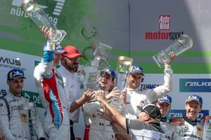 Podium: Winner #4 Audi Sport Team Phoenix Audi R8 LMS: Pierre Kaffer, Frank Stippler, Frédéric Vervisch, Dries Vanthoor