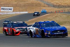 Matt Tifft, Front Row Motorsports, Ford Mustang Acquire Investments and Erik Jones, Joe Gibbs Racing, Toyota Camry Craftsman
