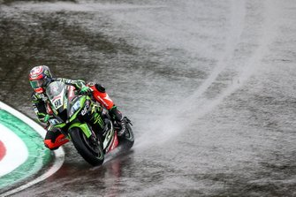 Leon Haslam, Kawasaki Racing Team on wet assessment lap
