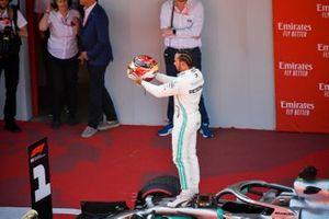 Yarış galibi Lewis Hamilton, Mercedes AMG F1,Parc Ferme