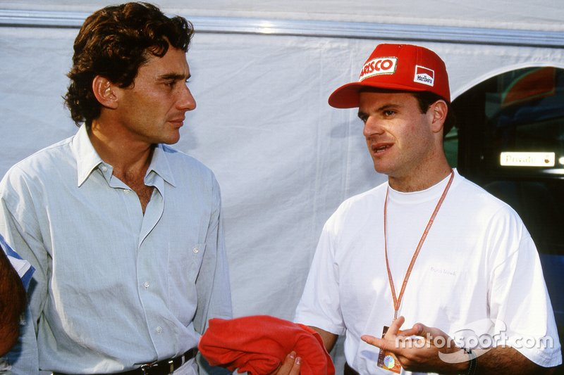 Ayrton Senna, Williams; Rubens Barrichello, Jordan