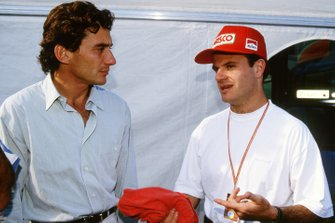 Ayrton Senna, Williams y Rubens Barrichello, Jordan