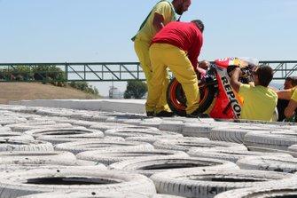 Bike of Jorge Lorenzo, Repsol Honda Team after his crash