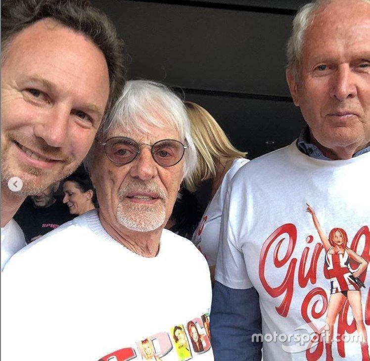 Christian Horner, Bernie Ecclestone e Helmut Marko