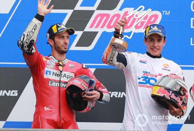 Podio: ganador, Marc Marquez, Repsol Honda Team, segundo, Andrea Dovizioso, Ducati Team