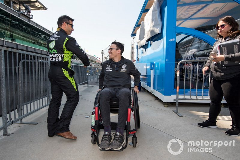 Oriol Servia, Arrow Schmidt Peterson Motorsports Honda accoglie Robert Wickens
