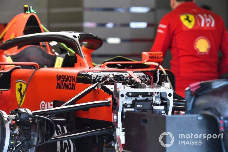Zona delantera del Ferrari SF90