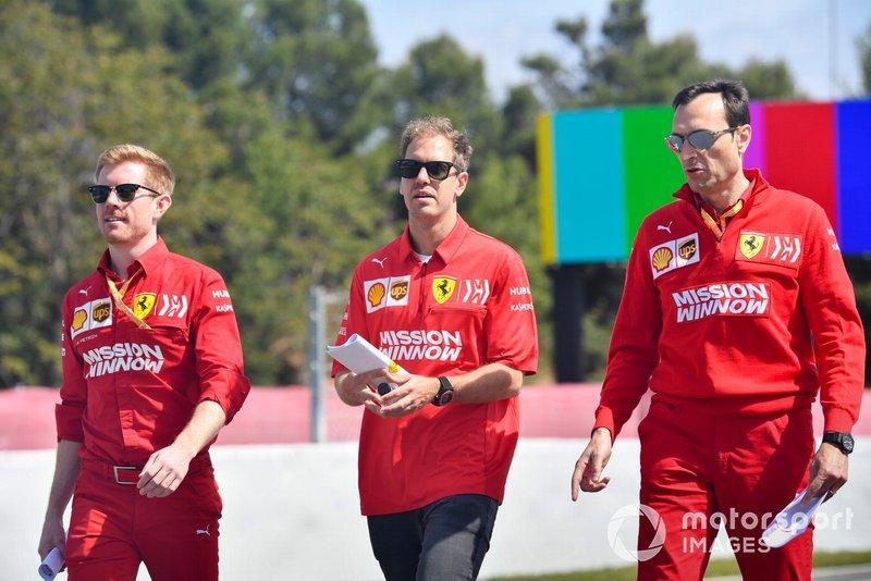 Sebastian Vettel, Ferrari cammina sulla pista