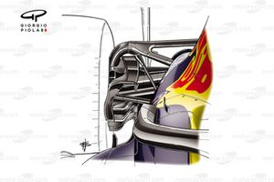 Red Bull Racing RB16 sospensione posteriore