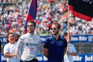 Robin Frijns, Virgin Racing, Sam Bird, Virgin Racing, during drivers parade